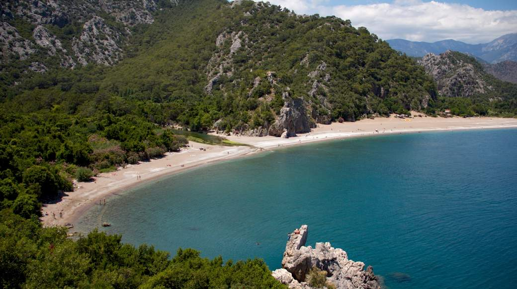 beach cove viewpoint in turkey