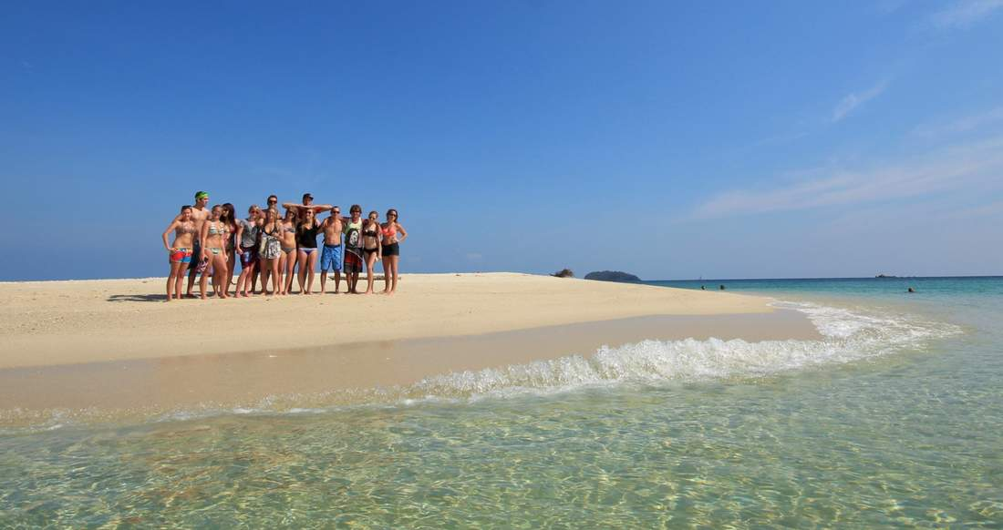 Thailand secluded beaches with a group of adventurous friends