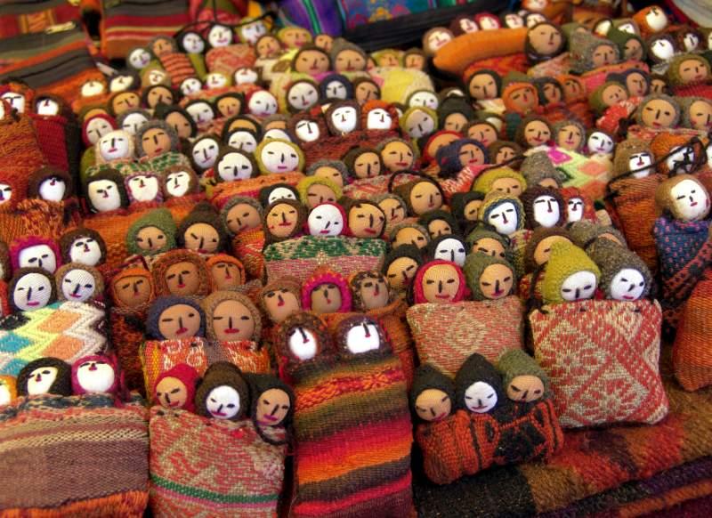Traditional dolls of peru
