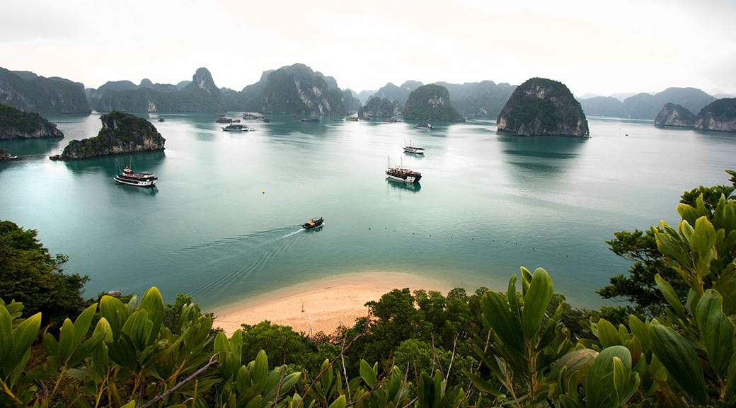 A view of Halong Bay in Vietnam