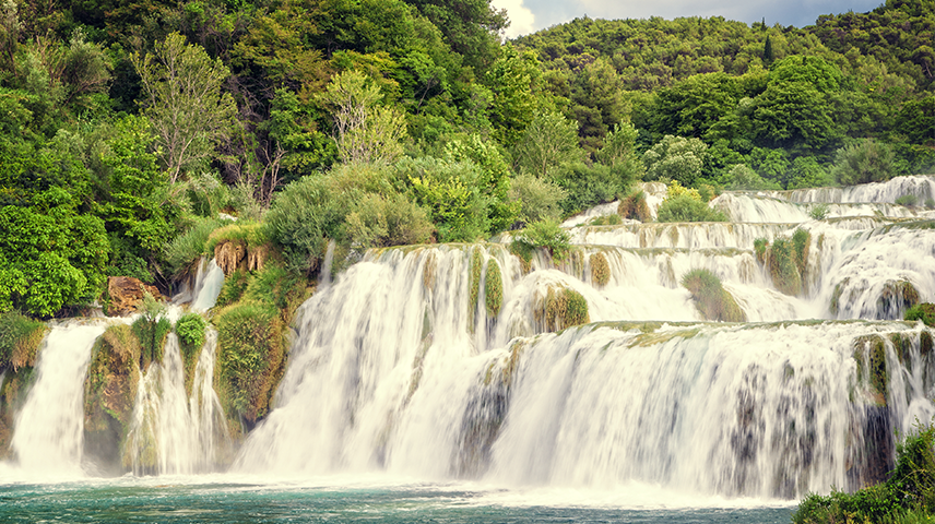 A shot of Krka Falls in Croatia