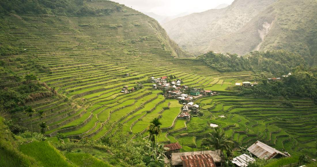rice terraces of banue philippines