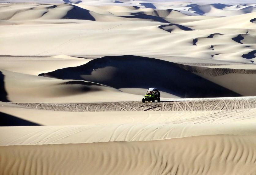 Sand dunes of Huacachina Peru