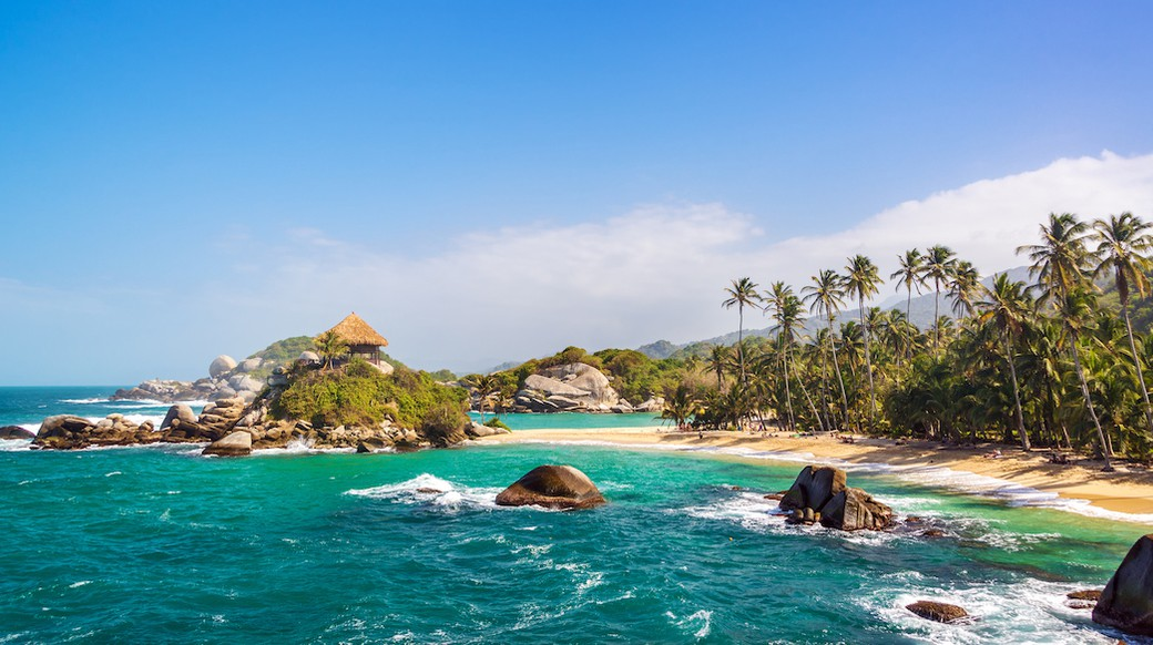view of tayrona park beach