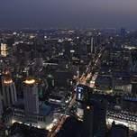 View of Bangkok from high up at night