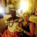 fruit being carried the traditional way in Cartagena Colombia