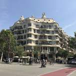 La Pedrera - one of Antoni Gaudi's designs in Barcelona.