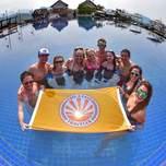 Pool party in Luang Prabang Laos