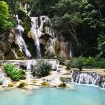 Kuang Si Falls in Luang Prabang, Laos