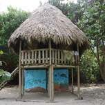 beach hut on a secret beach in tayrona park
