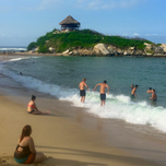 Beautiful beach in Tayrona Park Colombia