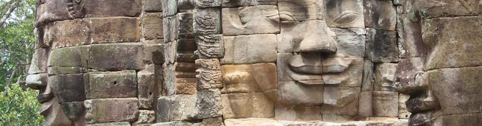 the faces in the temple of angkor wat