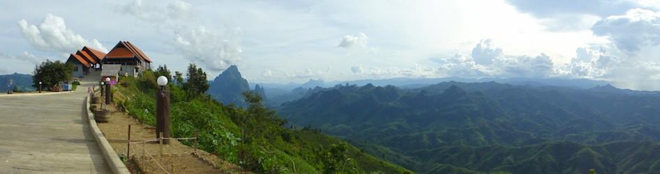 Beautiful green mountains in Laos